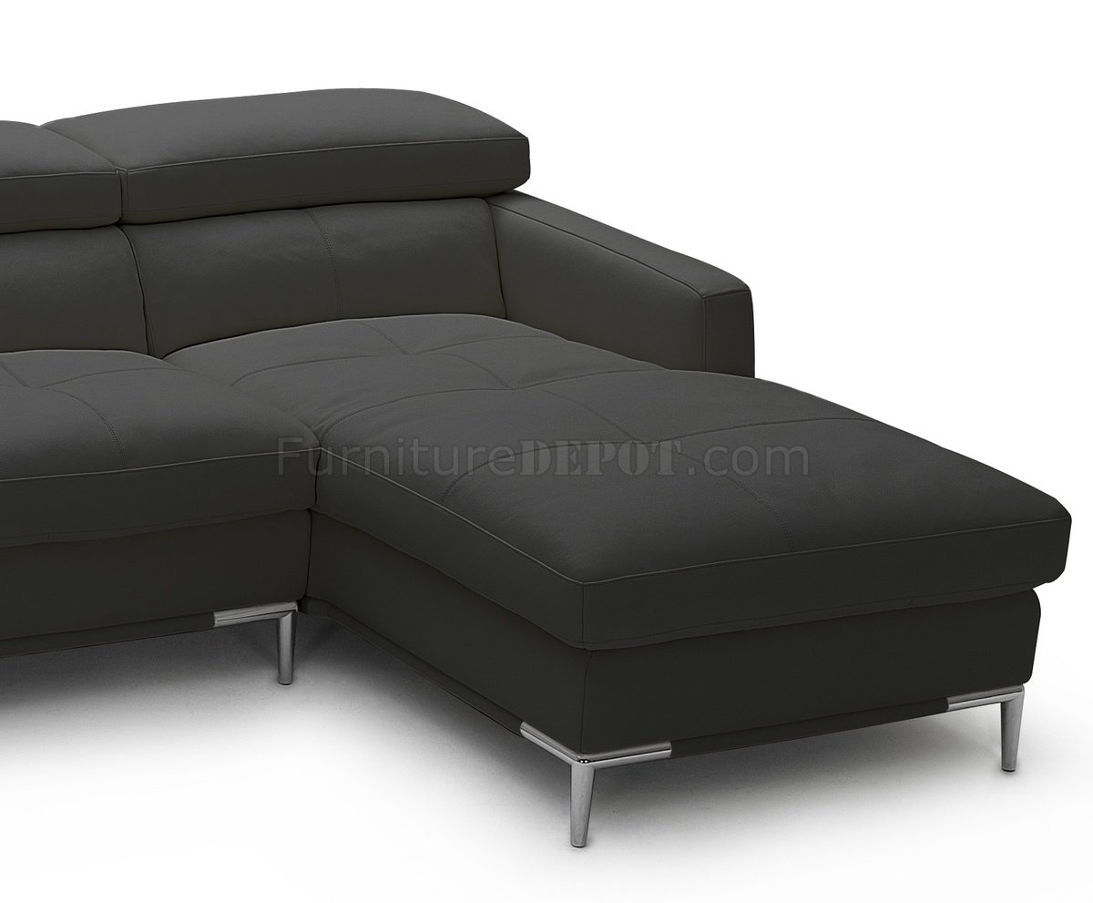 j m paquet sofa leather minneapolis 1281b sectional in black full by andm