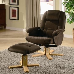 Microfiber Club Chair With Ottoman Home Office Without Wheels Uk Brown Padded Leisure W