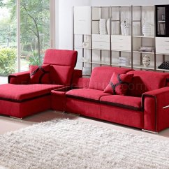 Red Fabric Sofa Vig Furniture 5022 Polaris Orange Bonded Leather Sectional 1201 Harding In By
