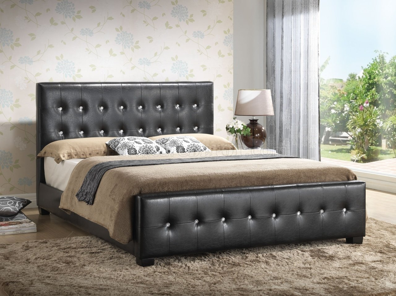 modern gray sofa set how to get rid of bed g2583 upholstered in black leatherette by glory