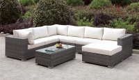 Somani CM-OS2128-5 Outdoor Sectional Sofa & Coffee Table Set