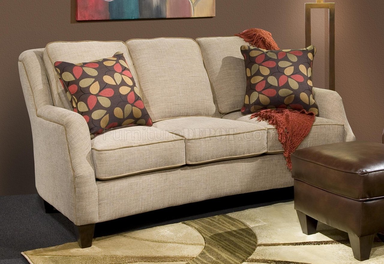 272443 Russell Sofa in Sand Fabric by Chelsea wOptions
