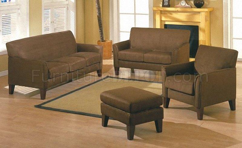 microfiber club chair with ottoman rental chicago mocha stylish modern sofa w/wooden legs