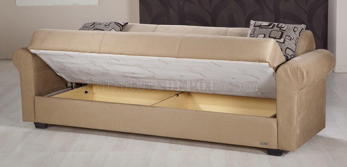 loveseat sofa bed mattress leather office sofas dark beige microfiber modern storage sleeper w ...
