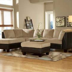 Dark Brown Microfiber Sofa Pipe Table Plans 9838br Royce Sectional In Light By ...