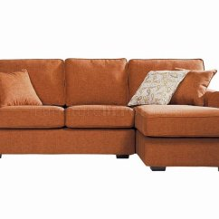 Orange Fabric Sectional Sofa Fancy Sofas Contemporary Small In