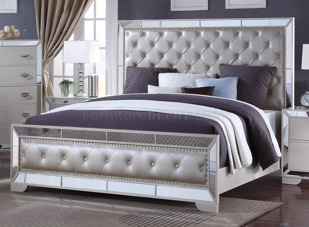 Gloria 5Pc Bedroom Set in Ivory wOptions
