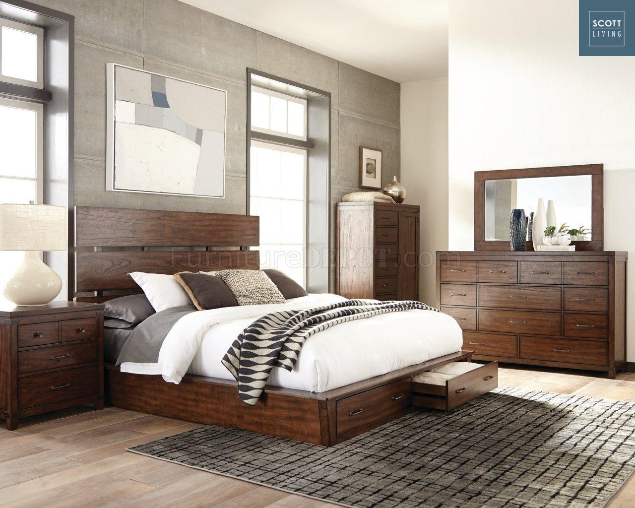 Artesia 204470 Scott Living Coaster Dark Cocoa Bedroom