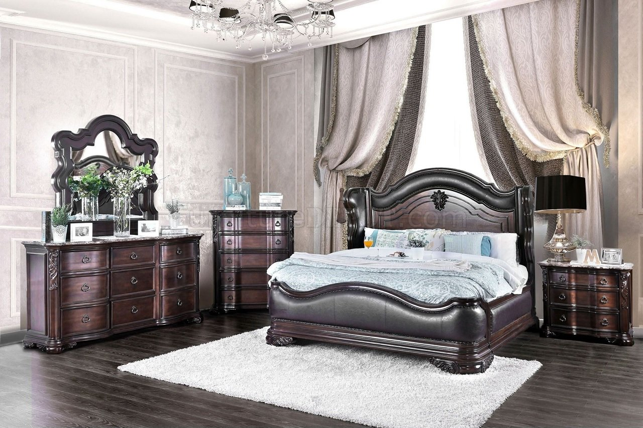 Arcturus Bedroom CM7859 in Brown Cherry wOptions