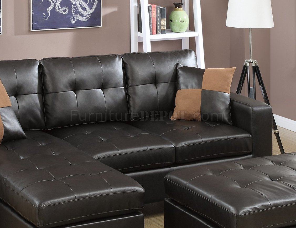 espresso bonded leather reclining sofa loveseat set coastal style sectional sofas f6927 in by boss