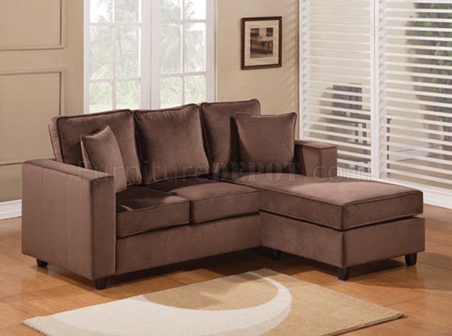 acme sectional sofa chocolate cheap corner beds with storage willa in microfiber by furniture
