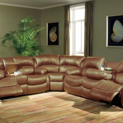 Modern Bonded Leather Sectional Sofa With Recliners Divan Prices In Chennai Transitional Brown W Recliner Mechanism