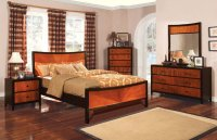 Contemporary Two-Tone Finish Bedroom Set
