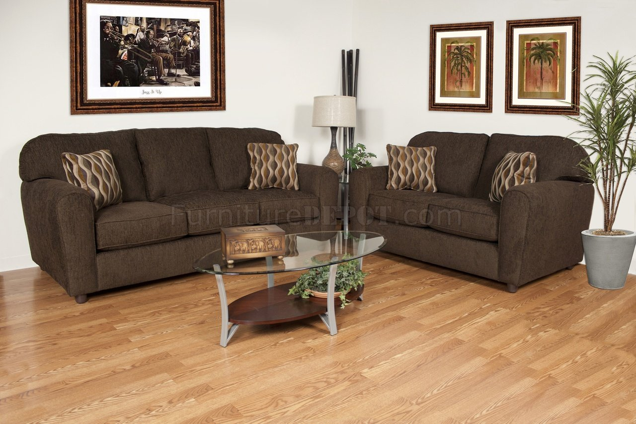 modern fabric sofa set bed boards ie council chocolate and loveseat w options