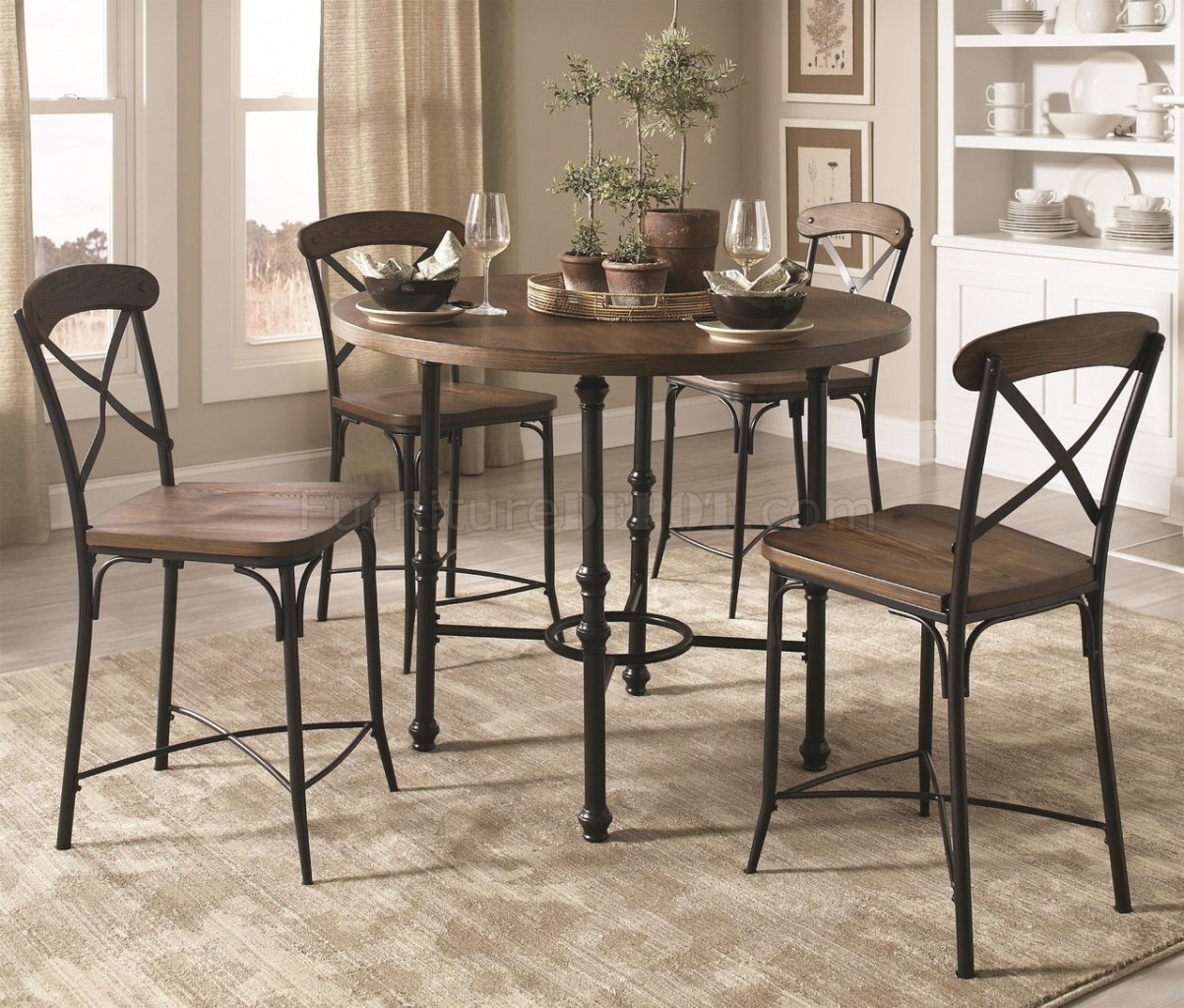 105618 Monticello 5Pc Counter Height Dining Set By Coaster
