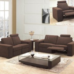 Sofa Microfiber Fabric Seats And Sofas Eindhoven Adres Modern 3pc Living Room Set 0918 Brown Reclining