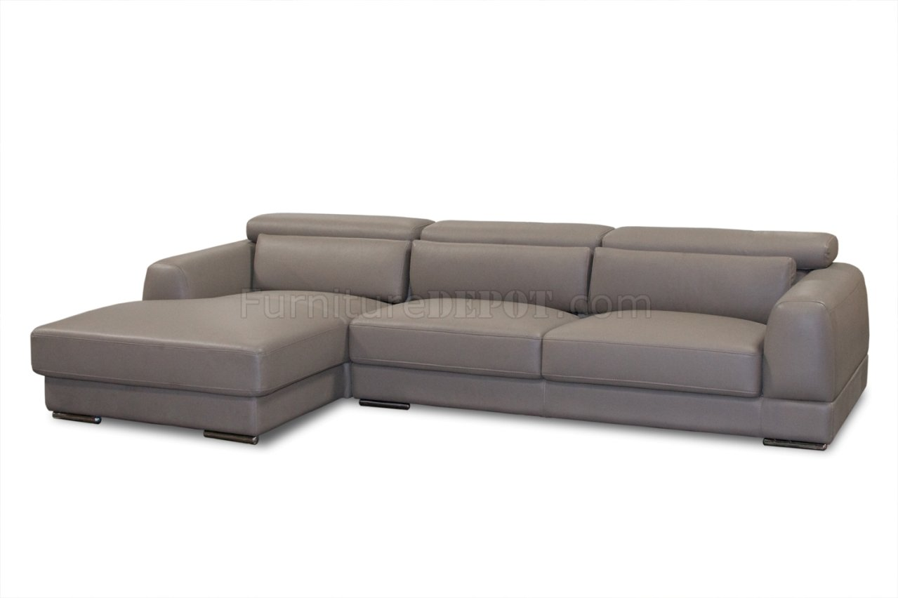 leather sectional sofa chicago bequeme sofas fur kleine raume mink brown bonded modern