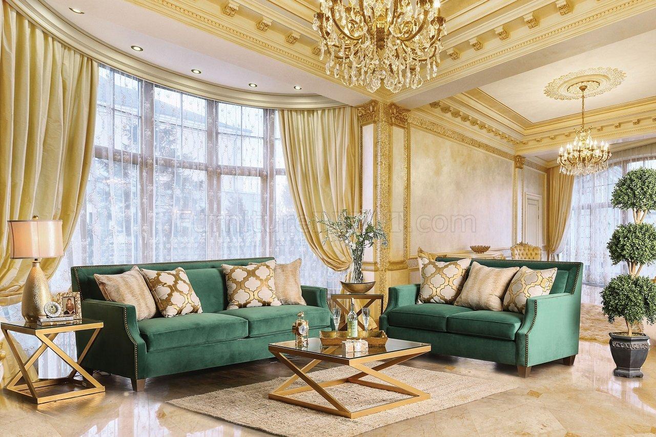 dorado office chair best chairs verdante sofa sm2271 in emerald green fabric w/options