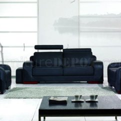 3 Piece Black Leather Living Room Set American Furniture Chairs Modern Yi A32b 3pc W Footrests