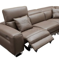 Motion Sofas Leather Flexsteel Sleeper Sofa Queen 468 Sectional Brown By Esf W Power