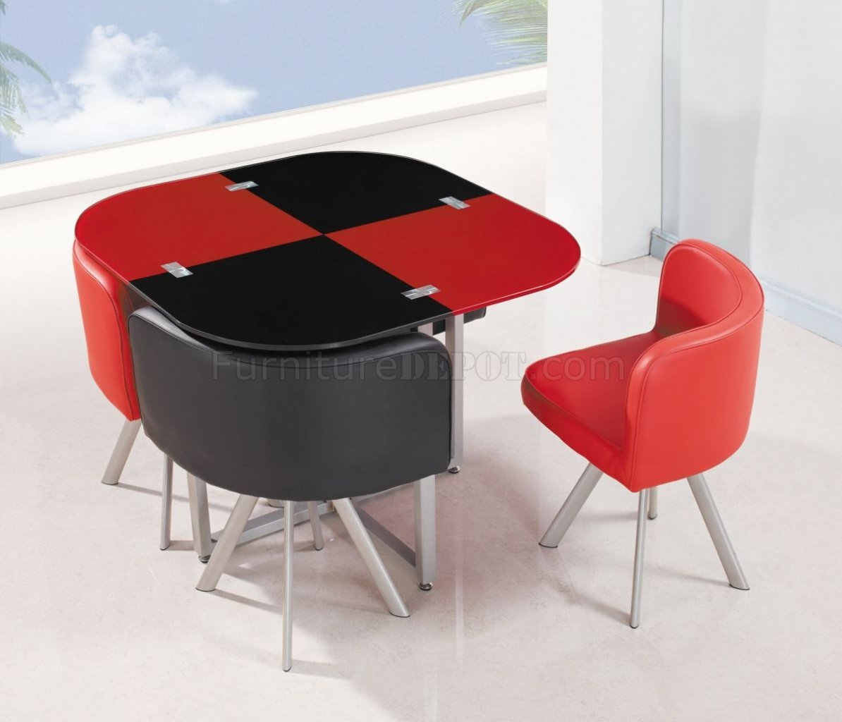 red and black chair grey modern dining chairs d536dt set 5pc in by global furniture usa