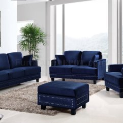 Modern Lounge Chairs For Living Room Turquoise Dining Chair Covers Ferrara Sofa 655 In Navy Velvet Fabric W Optional Items