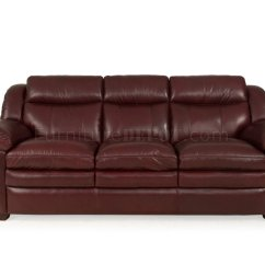 Burgundy Leather Sofa And Loveseat White Slipcovered Blog 8550 Sonora In Set By Italia