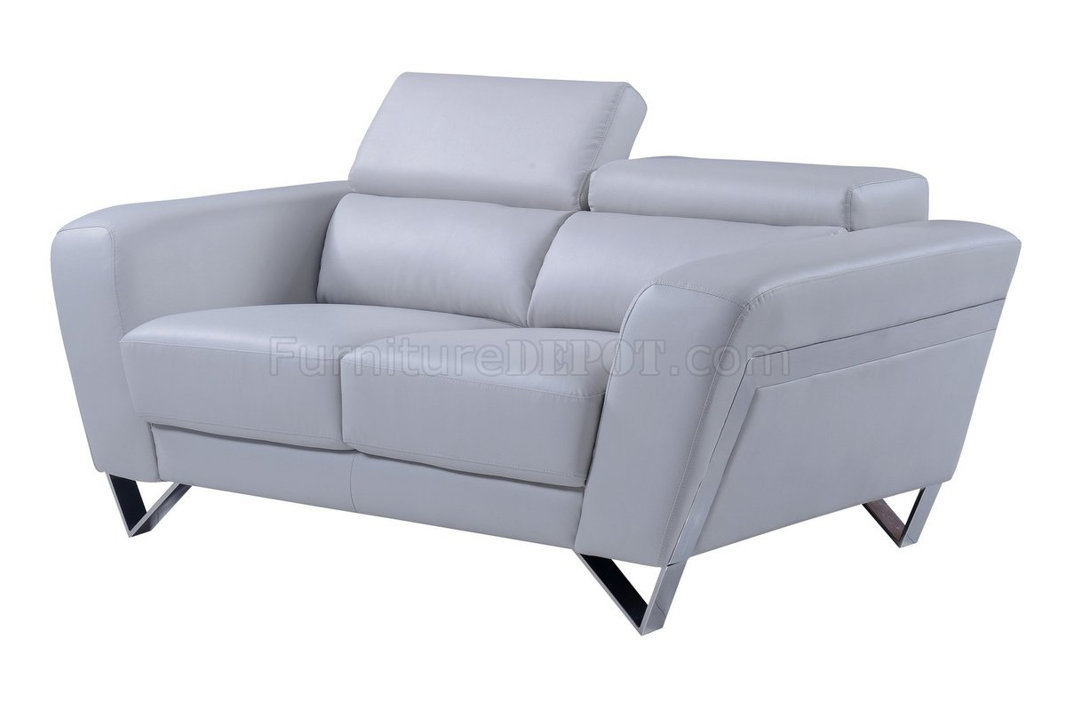 light grey leather sofa burgundy living room ideas u7120 3pc set in bonded by global