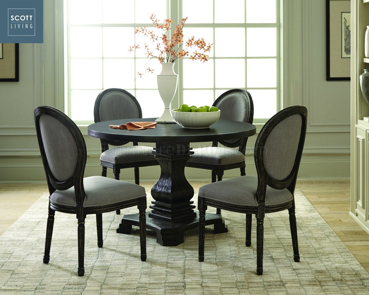 Dayton 107650  Scott Living  Coaster  Antique Black Table