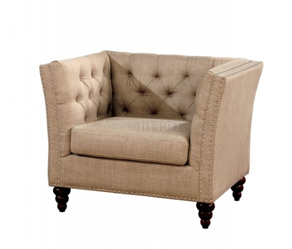 Imani Sofa Cm6860 In Beige Fabric Withoptions