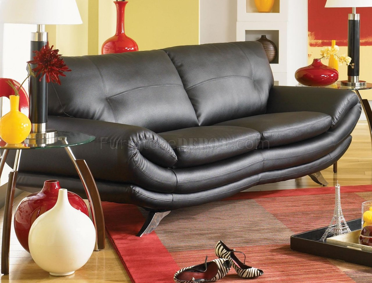 sofas with legs how to build a sofa chair black leather chrome venice faux