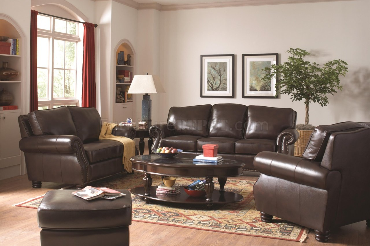 coaster bachman sofa reviews replacement cushion covers for leather briscoe 504701 in tobacco by w options