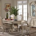 Veronica dining set in antique style white adds veronica antique white