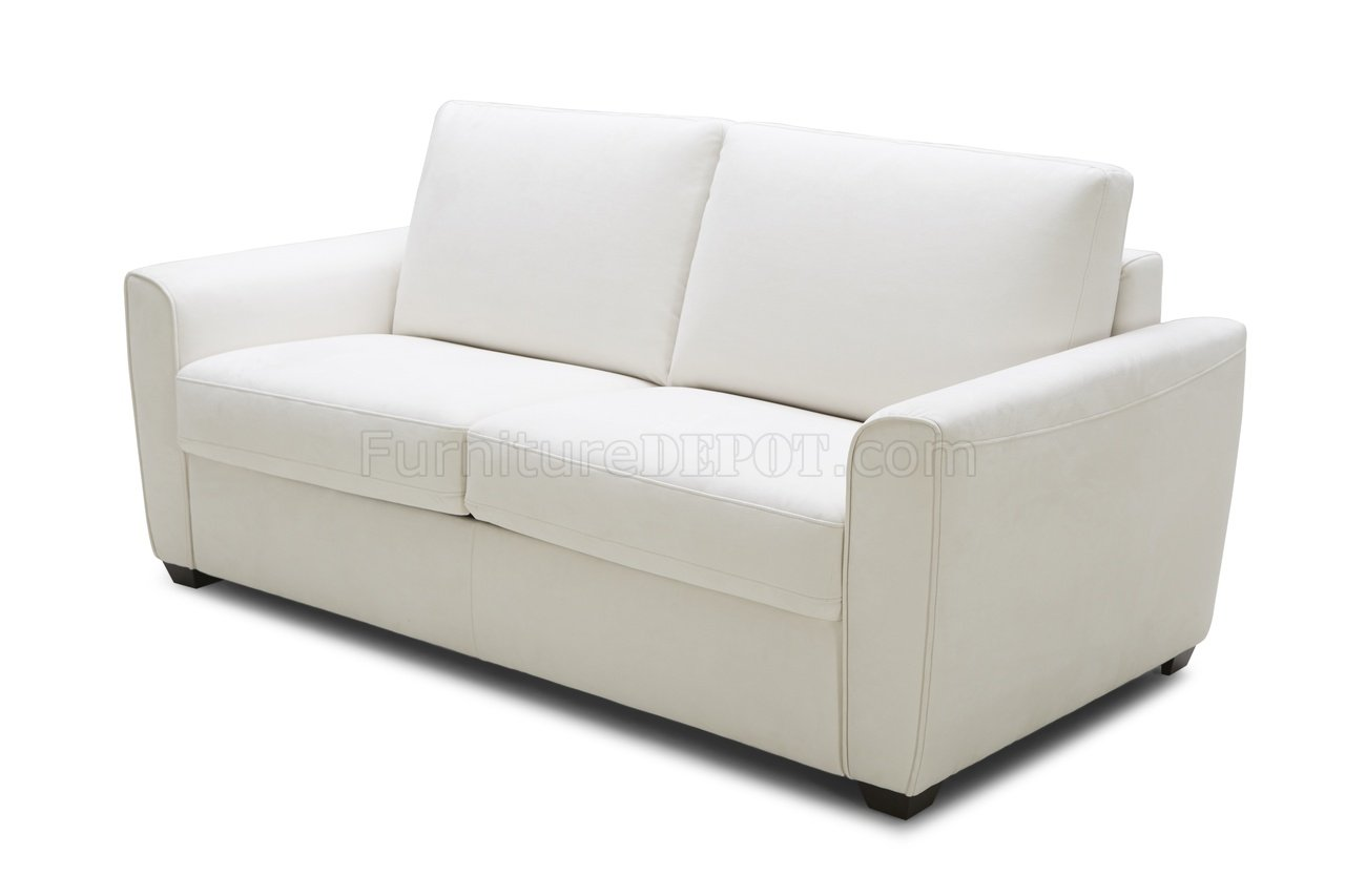 white microfiber sectional sofa sofas fabric and leather alpine premium bed in by j andm