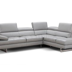 Grey Fabric L Shaped Sofa Cheers Review Aurora Sectional In Light Premium Leather By J&m