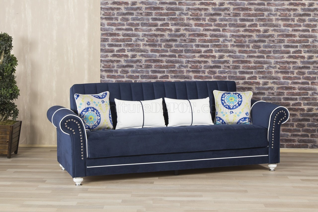royal blue sofa fabric pillows for sofas home bed in dark by casamode w options