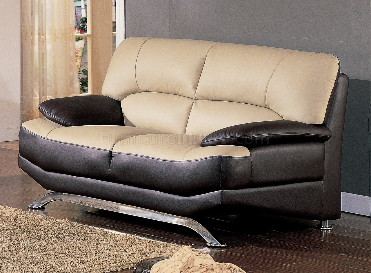 alicia two tone modern sofa and loveseat set new faux leather 3 seater bed saddle brown full bonded