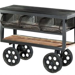 Kitchen Carts On Wheels Cabinets With Legs Amara 6411 Iron Cart By Homelegance