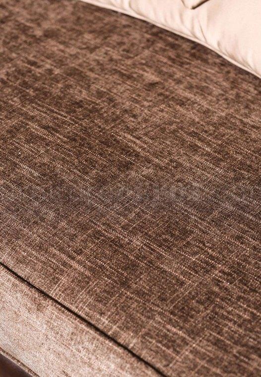Kinsale SM6309 Sofa in Tan Fabric  Brown Leatherette w