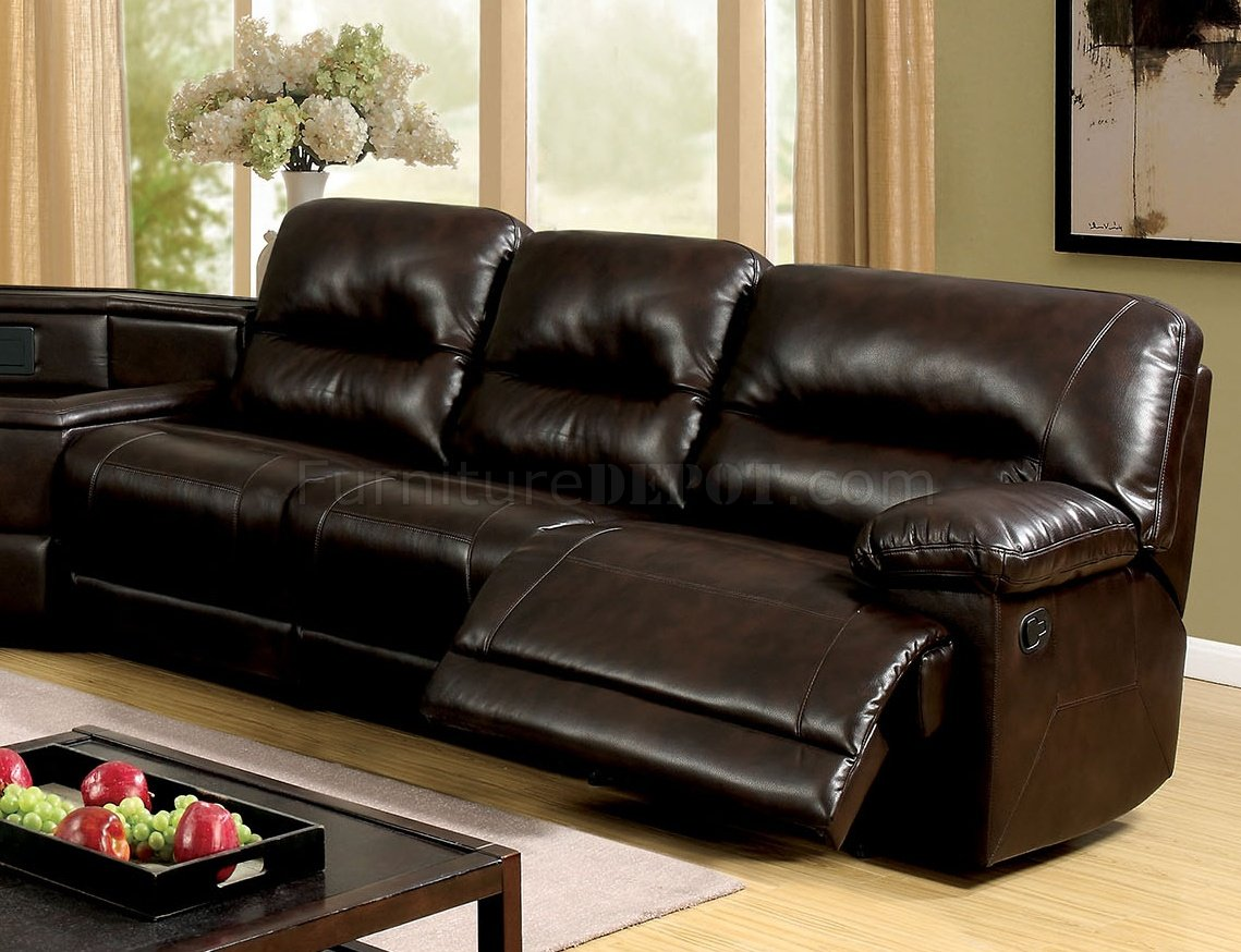 leather sofas glasgow area bramblecrest henley sofa set reclining sectional cm6822br in brown leatherette