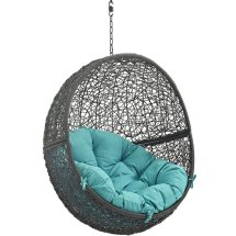 Hide Outdoor Patio Swing Chair Gray Modway Choice Of Color