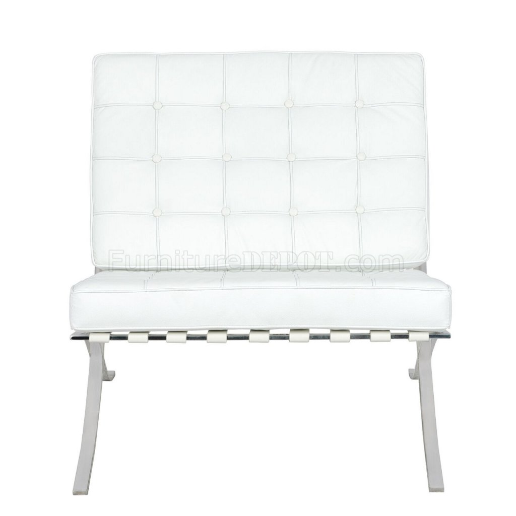 Bellefonte Accent Chair Amp Ottoman Br30wl In White By