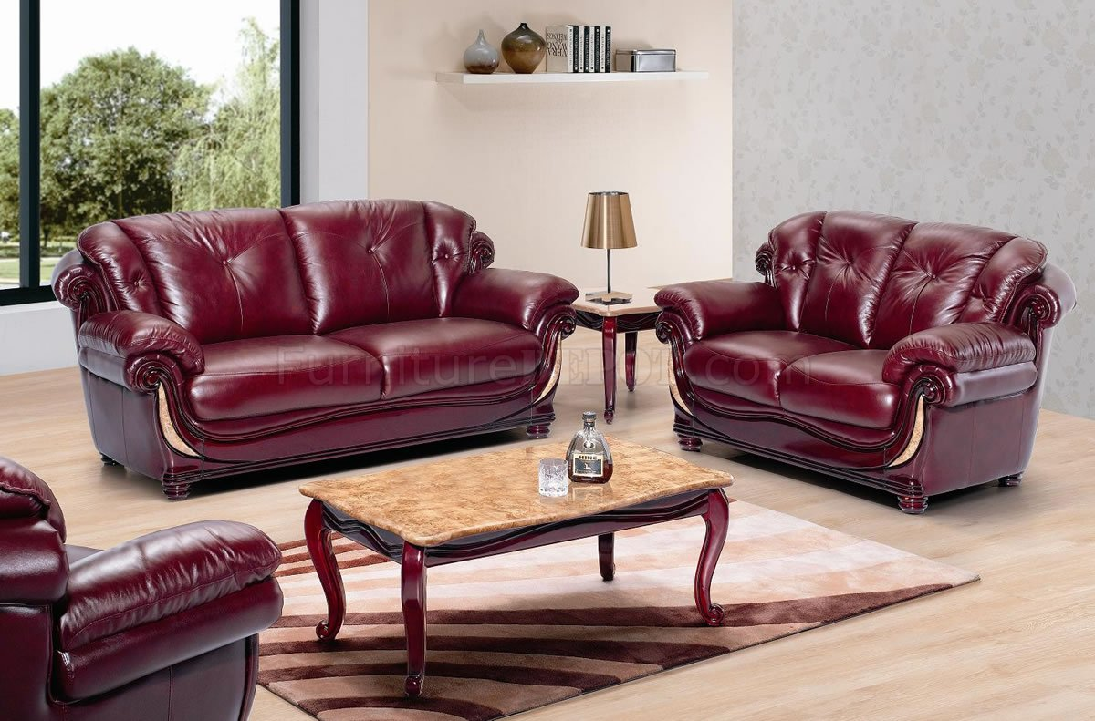 cherry furniture living room best floor lamps for beige leather classic w wooden accents burgundy stylish trims