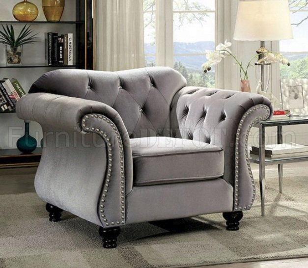 office chair depot trex adirondack rocking chairs jolanda sofa cm6159gy in gray fabric w/options