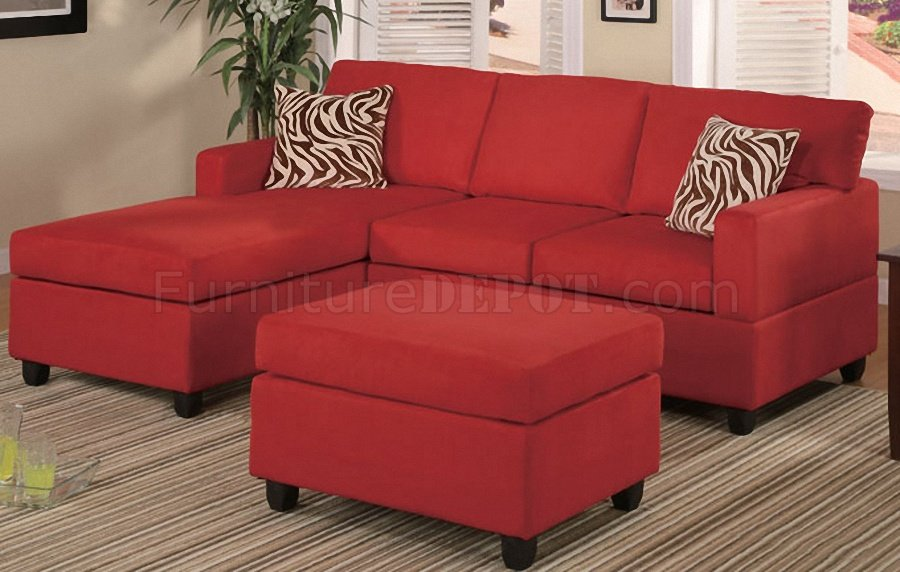 Twin sleeper futon sofa bed, modern recliner couch loveseat,convertible daybed sofabed with 2 cup holder and upholstered fabric for living room, apartment, small space, twin size (red) $319.99. F7668 Small Sectional Sofa in Red Microfiber by Poundex
