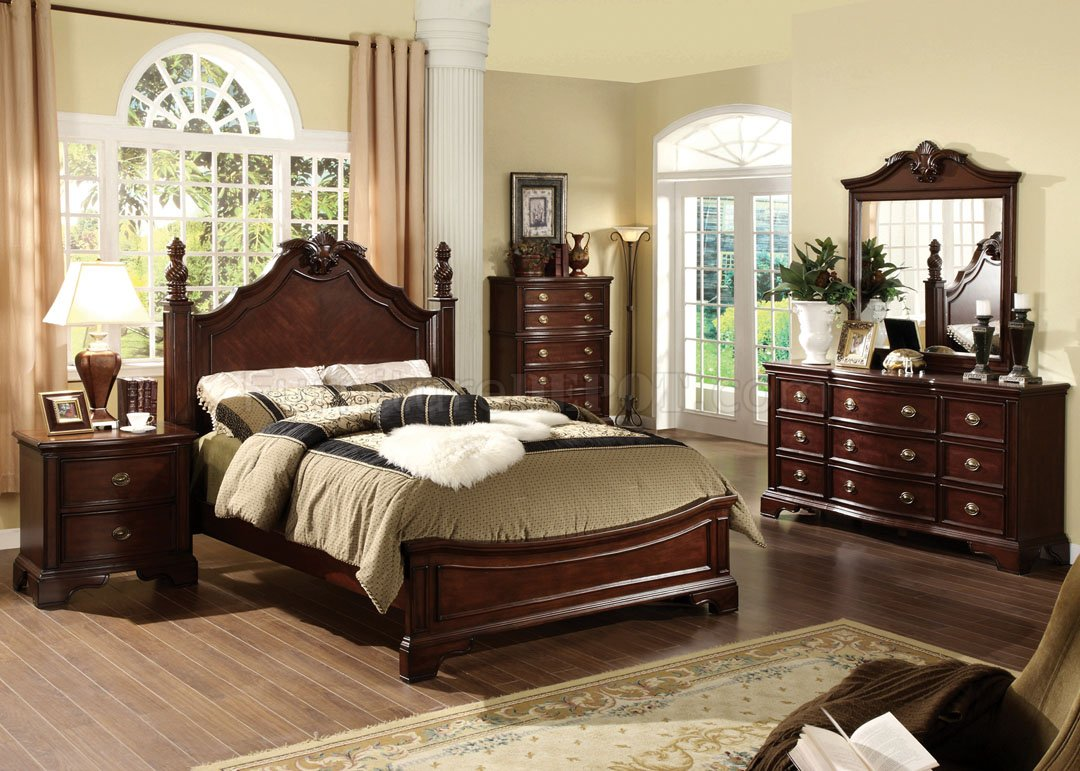 CM7310L Carlsbad Bedroom in Dark Cherry wOptions
