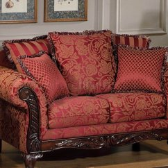 Red Fabric Sofa Sectional Leather Covers Traditional And Loveseat Set W Optional Chaise