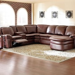 Leather Recliner Sectional Sofa Furniture Delivery Uk Sofas Burgundy Bonded Reclining W Console Unit