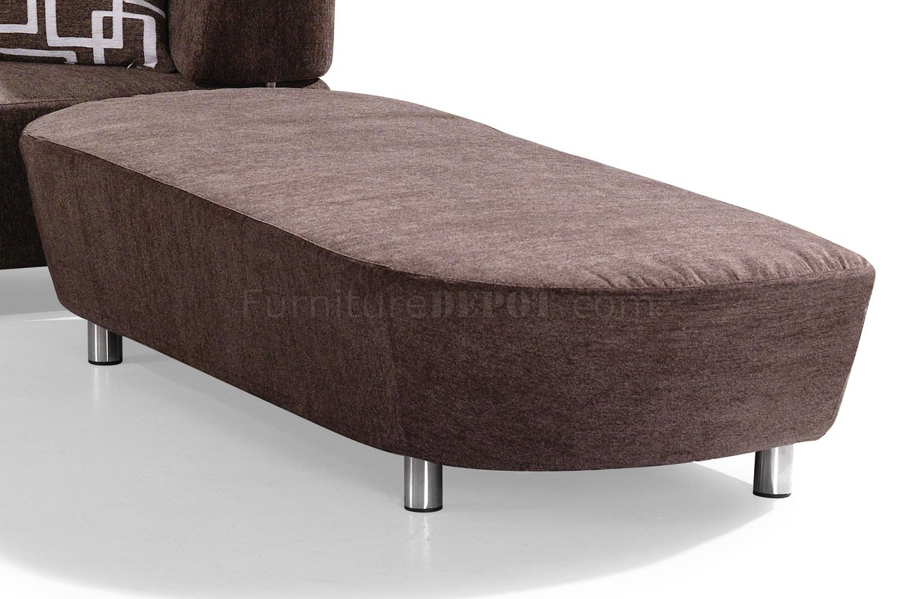 brown microfiber sofa bed bailey furniture village convertible sectional w ottoman
