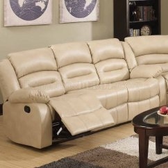 Sectional Recliner Sofas Braxton Culler Bedford Sofa 9173/9243 Reclining In Cream Bonded Leather